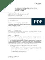 DTC agreement between Côte d'Ivoire and Switzerland