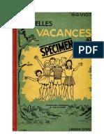 Langue Française Les Belles Vacances H-G Viot (Istra 1953)