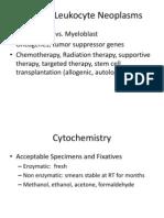 Leukocyte Disorders