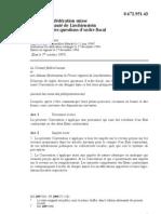 DTC agreement between Liechtenstein and Switzerland
