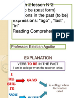 2nd Lesson Unit 7 Past Tense Questions Ago in Last
