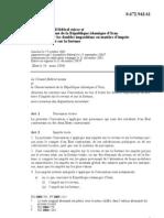 DTC agreement between Iran and Switzerland