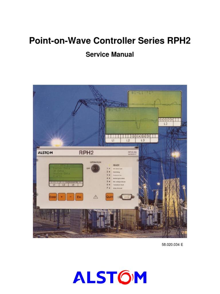 Alstom - p&c -Pow Relay Rph2@o&m Manual | Switch | Capacitor