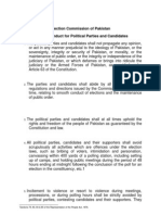 ECP Consolidated Code of Conduct for political parties and candidates