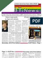 GLBT News November 2012 Print Edition