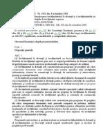 HG Nr 1011 Din 2001 Invatamant ID Si FR