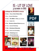 ECS A2 Lit of Love Poster 2012/13
