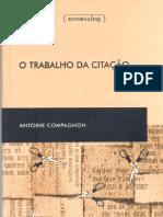 COMPAGNON, Antoine - O trabalho da citação(2)
