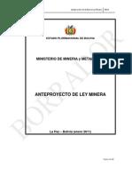 Anteproyecto de La Nueva Ley Minera 2011