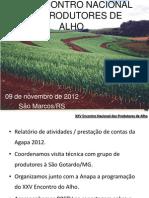 Xxv Encontro Nacional Dos Produtores de Alho - Olir