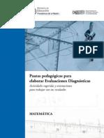 Pautas pedagógicas para elaborar Evaluación diagnóstica - Matemática