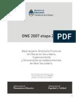 ONE 2007- Etapa 2008 Material Para Docentes y Alumnos