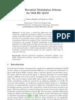 Angle Differential Modulation Scheme for Odd-Bit QAM