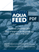 Effect of Sangrovit® on the growth and performance of sea bass