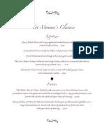 Not Momma's Classics Menu PDF
