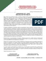 Comunicado 4 Mesa Sector Publico-CUT 2012-2013