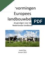 Hervormingen Europees Landbouwbeleid