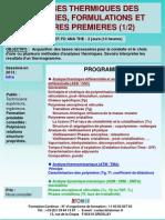 Formation Continue Analyses Thermiques Des Polymeres Formulations Et Matieres Premieres