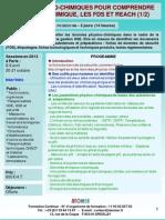 Formation Continue Bases Physico-chimiques Pour Comprendre Le Risque Chimique 2013
