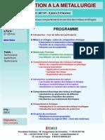Formation Continue Introduction à La Métallurgie 2013