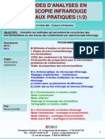 Formation Continue Microscopie Infrarouge Pratique