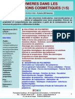 Formation Continue Polymeres Et Cosmetiques 2013