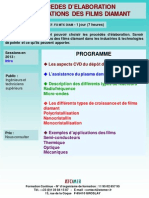Formation Continue Procedes Elaboration Et Applications Des Films Diamant