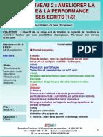 Formation Continue Rediger Niveau 2 Ameliorer La Lisibilite Et La Performance de Ses Ecrits 2013
