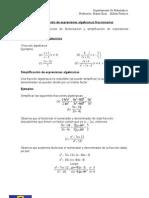 Guia de Algebra (Fracciones Algebraicas)