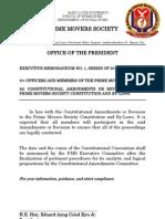 Executive Memorandum No. 1