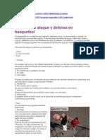 Tecnicas de Ataque y Defensa en Basquetbol
