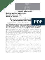 02-01-2012 Excelente respuesta ciudadana en el primer día de pago del impuesto predial en Guadalajara