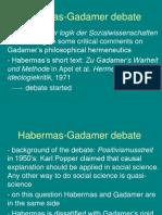 Habermas Gadamer
