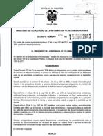 Decreto 1704 Del 15 de Agosto de 2012