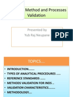 Analytical Method and Processes Validation