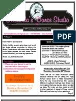 MDS Newsletter November 2012