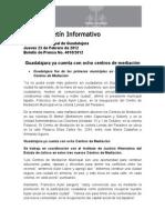 23-02-2012 Guadalajara ya cuenta con ocho centros de mediación