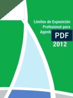 Limites Exposicion Profesional 2012