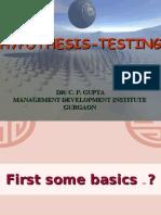 Hypothesis - Testing