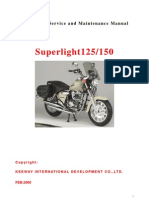 Manual Taller Superlight 125 CC (Idioma Ingles)