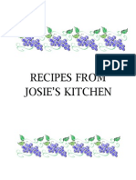 Josie's Cookbook