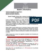 29-03-2012 Daviel Trujillo Cuevas Da a Conocer Resultados de Su Dependencia a Su Renuncia