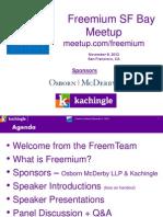 Cynthia Typaldos, Founder, Kachingle  Introduces the Freemium SF Bay Area Meetup