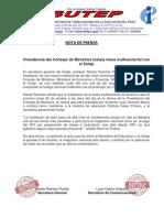 Nota de Prensa Instalacion Comision Intersectorial