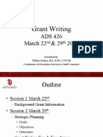 Grant Writing for Prevention Programs