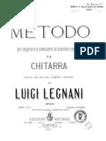 Legnani Op. 250- Metodo per Chitarra