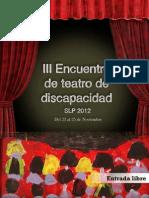 Programa III Encuentro de Teatro de Discapacidad SLP