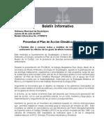 26-07-2012 Presentan el Plan de Acción Climática Municipal