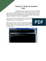 Instalar Windows 7 Desde Un Pendrive USB