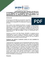 Propuesta  del  Cermi, de modificación del real decreto 18512009, de 4 de diciembre.
